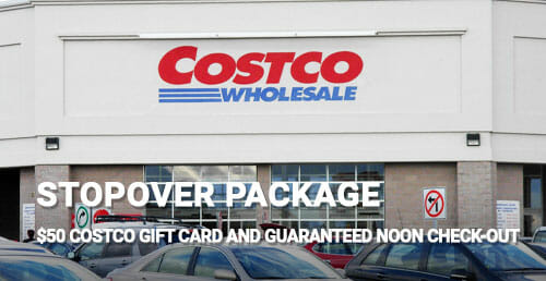 $50 Costco gift card and guaranteed noon check-out!